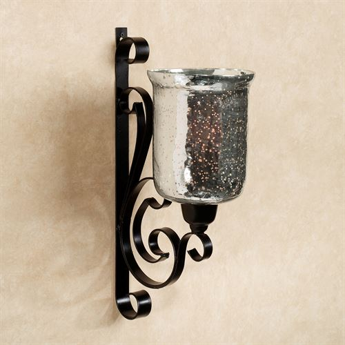 Benguella Black Metal Wall Sconce