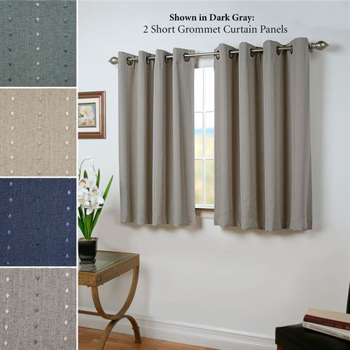 Grand Pointe Short Grommet Curtain Panel