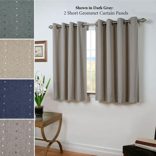 Grand Pointe Short Grommet Curtain Panel