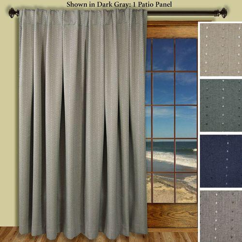 Grand Pointe Back Tab Patio Curtain Panel 110 x 84