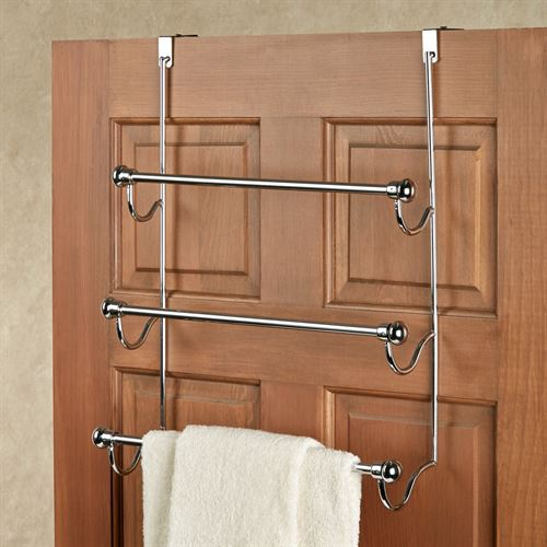 Over the Door Chrome Towel Rack