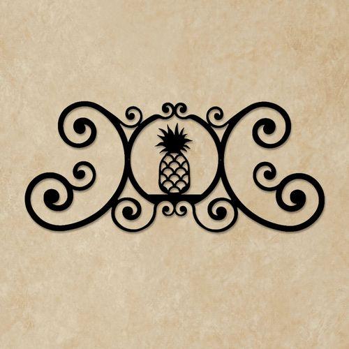 Pineapple Over the Door Plaque Black