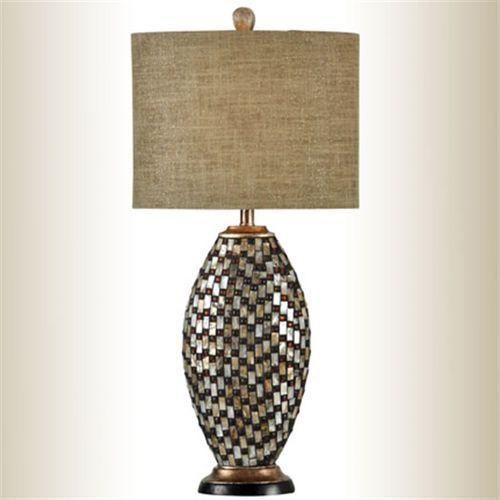 Jeweled Oval Table Lamp Multi Warm