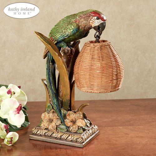 Parrot Paradise Accent Lamp Multi Earth