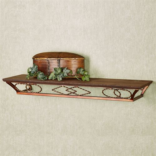 Tribal Essence Wall Display Shelf Dark Bronze