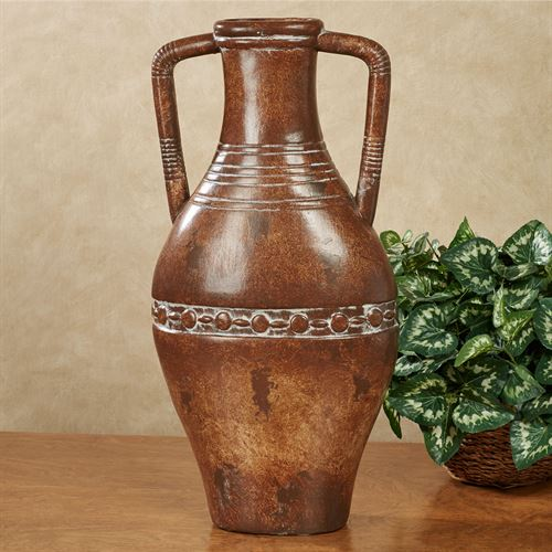 Etruscan Urn with Handles Terra Cotta