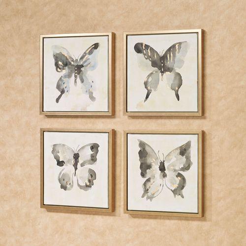 Butterfly Allure 4 pc Framed Wall Art Set