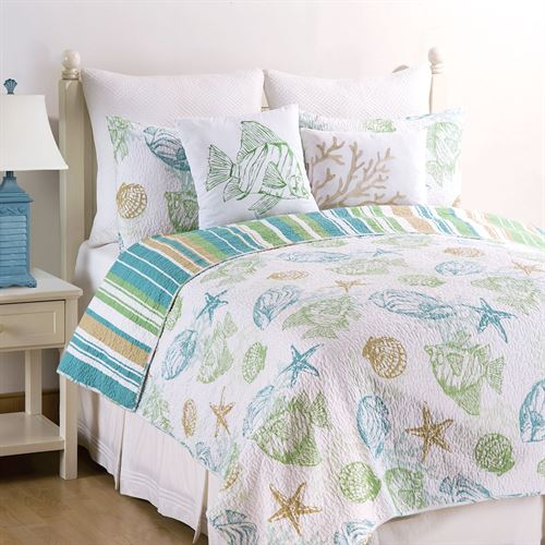 Reef Point Quilt Set White