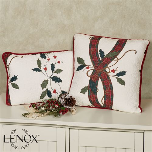 Nouveau Stripe Quilted Rectangle Pillow Off White