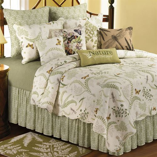 Althea Cotton Butterfly Dragonfly Quilt Bedding
