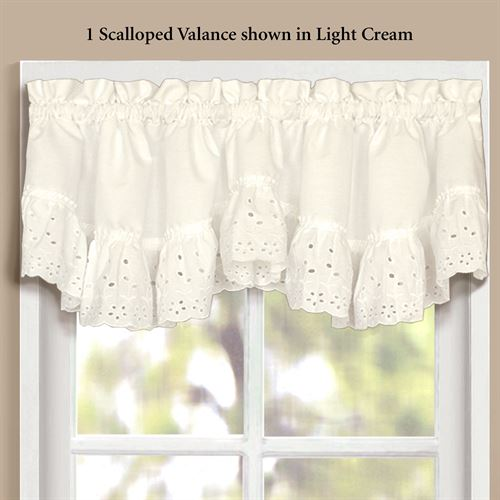 Vienna Scalloped Valance 60 x 15
