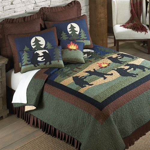 Bear Dance Quilt Jungle Green