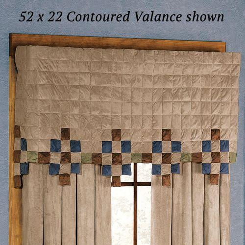 Mesa Sand Contoured Valance Indigo/Sand