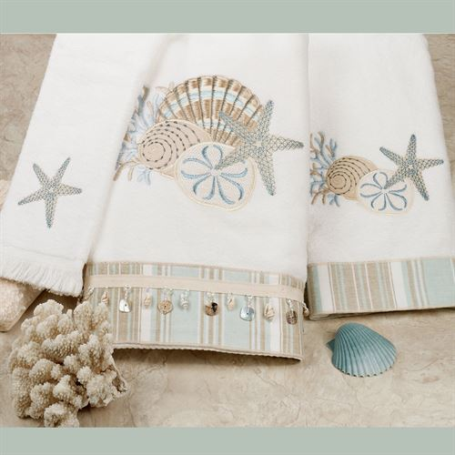 By the Sea Bath Towel Set White Bath Hand Fingertip