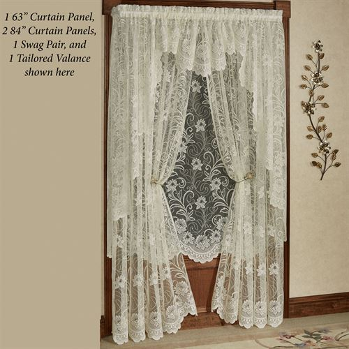 Art Nouveau Lace Curtain Panel