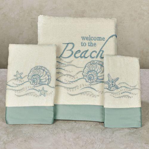 Welcome to the Beach Bath Towel Set Light Cream Bath Hand Fingertip