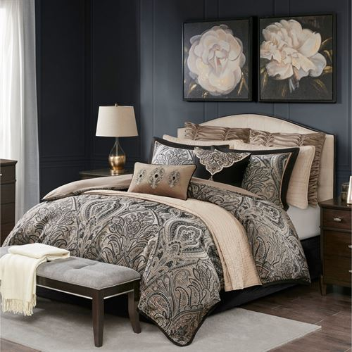 Grandover Comforter Bed Set Black