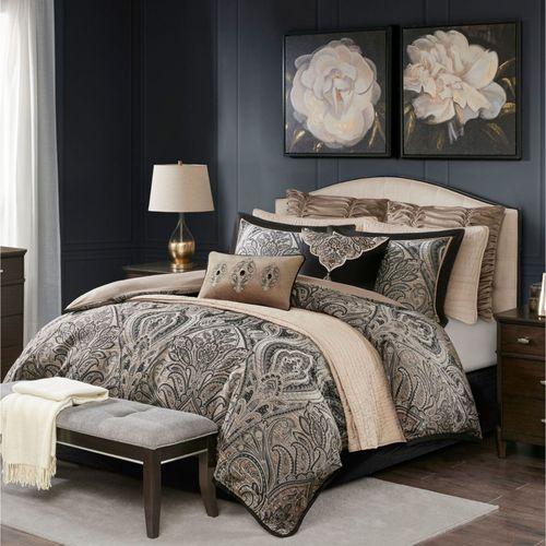 Grandover Comforter Bed Set Black