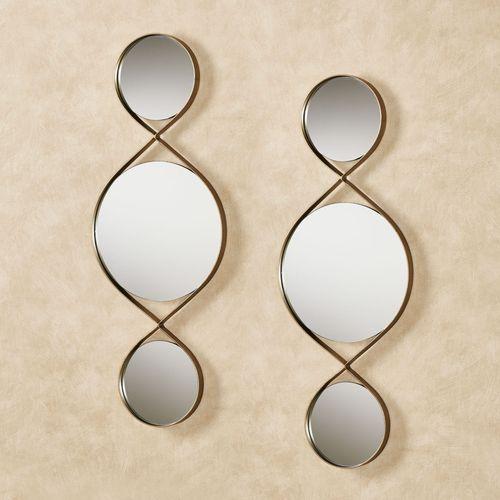 Allegra Mirrored Wall Art Gold Pair