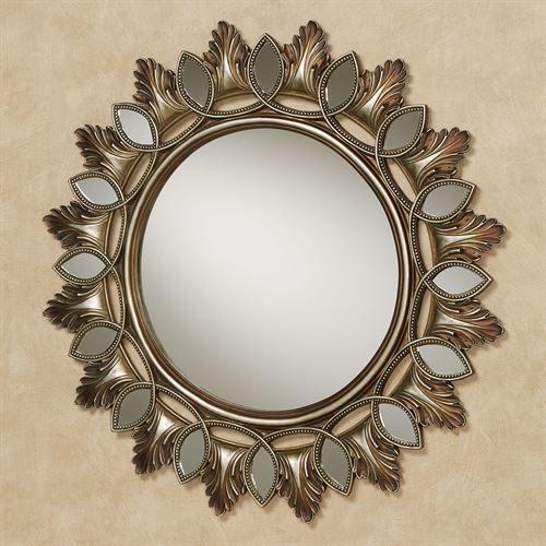 Ballari Round Wall Mirror Burnished Silver