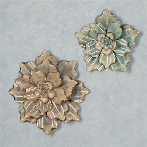 Fragrant Blooms Floral Wall Art Blue Set of Two