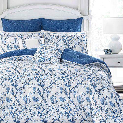 Elise Comforter Bed Set Blue