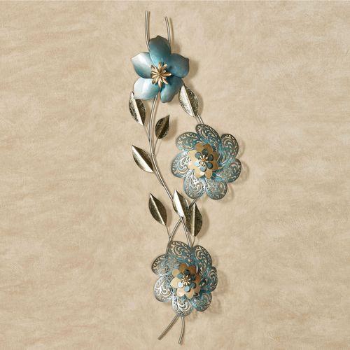 Floral Panache Wall Art Blue