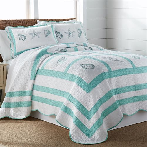 Beach Haven Bedspread Aqua