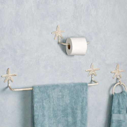 Starfish Toilet Paper Holder Weathered White