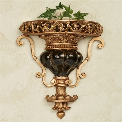 Chalmette Decorative Wall Shelf Black