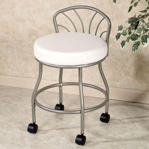 Flare Back Powder Finish Vanity Chair