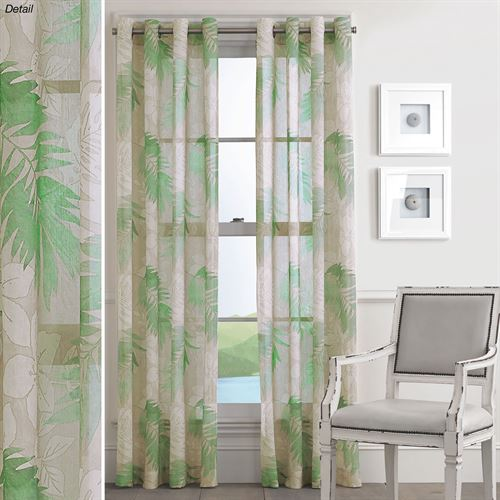 Tamar Sheer Grommet Curtain Panel Green