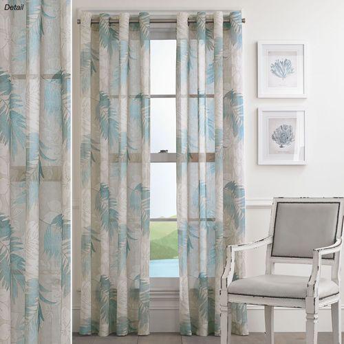 Tamar Sheer Grommet Curtain Panel Steel Blue