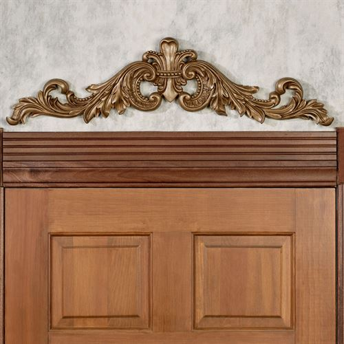Sidoria Scroll Door Topper Aged Gold