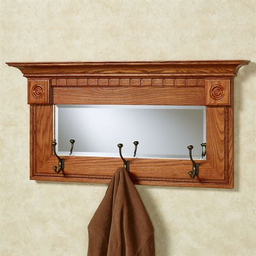 Dentil Pediment Wall Mirror Windsor Oak