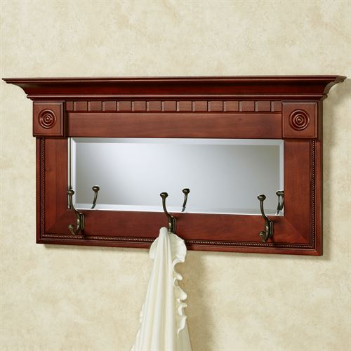 Dentil Pediment Wall Mirror Classic Cherry