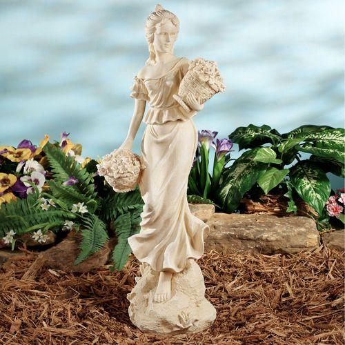 Flora Roman Goddess Sculpture Ivory