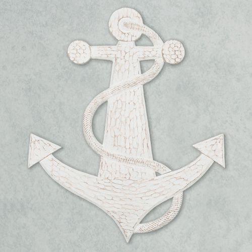 Lets Anchor Wall Art Whitewash