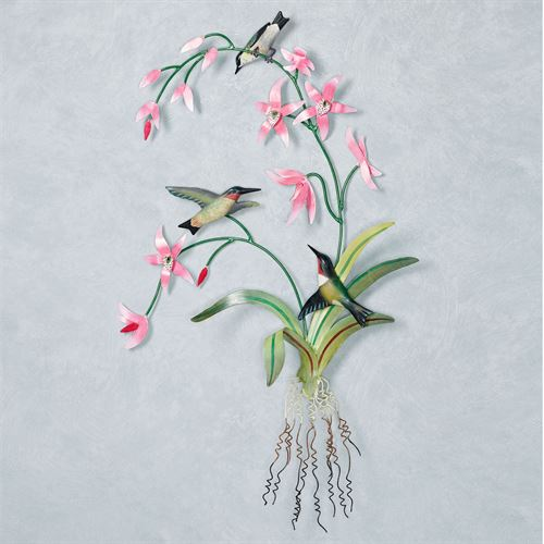 Delicate Hummingbird Wall Art Pink