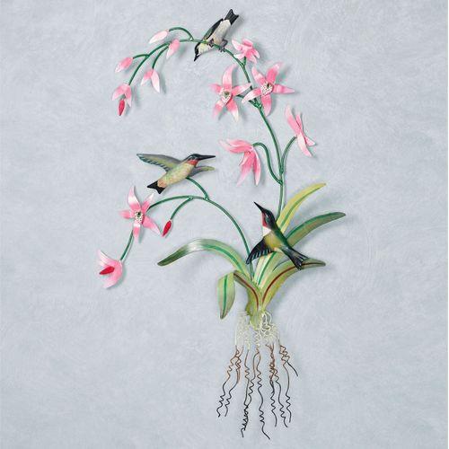 Delicate Hummingbird Wall Art Pink
