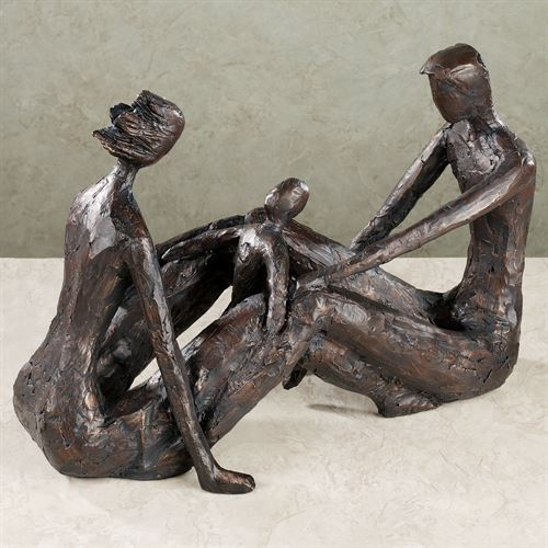 Kindred Souls Table Sculpture Charcoal Black