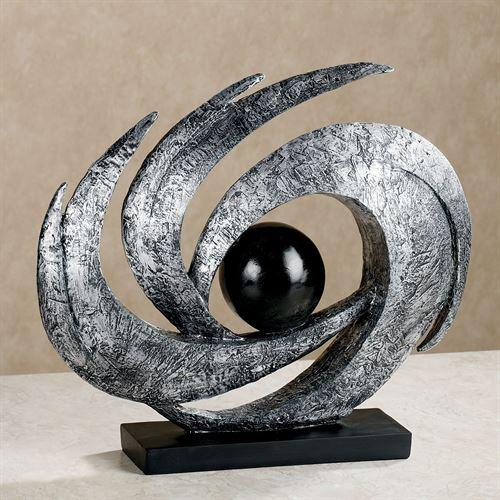 Earths Motion Table Sculpture Antique Silver