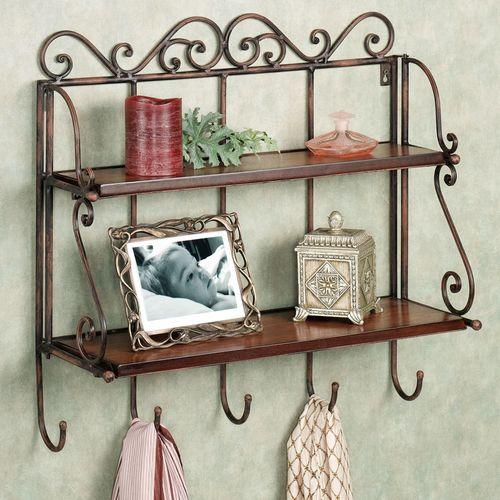 Carenza Double Wall Shelf Dark Bronze
