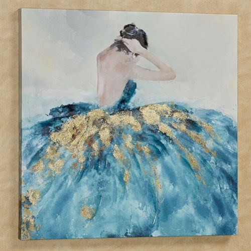 Bella Ballerina Canvas Wall Art Blue