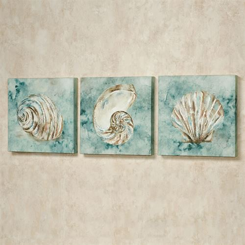 Sea Gifts Canvas Wall Art Multi Pastel Set of Three
