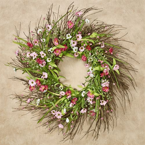 Pink Perfection Floral Wreath