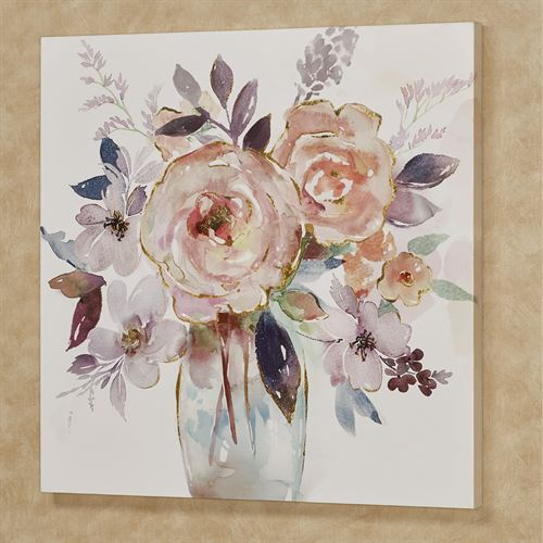 Floral Fantasy Canvas Wall Art Multi Cool