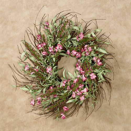 Sweet Pea Floral Wreath Pink