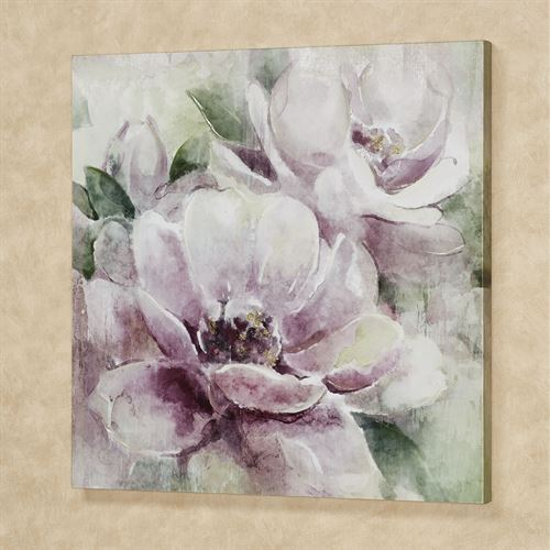 Morning Melody Floral Canvas Wall Art Purple
