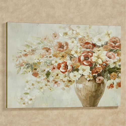 Bouquet of Blooms Floral Canvas Wall Art Multi Warm